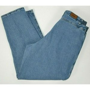 Lee Side Elastic At Waist Tapered Blue Jeans